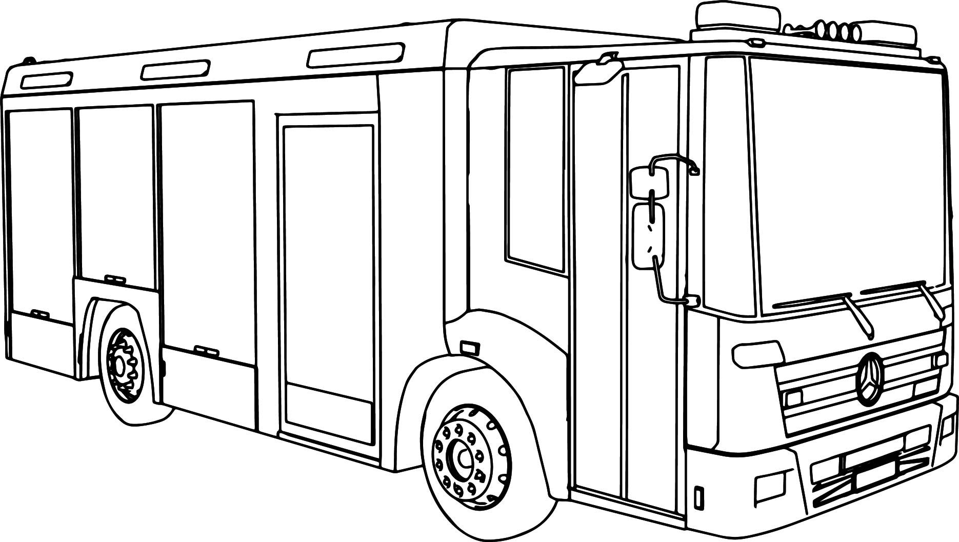 Awesome Mercedes Econic Fire Truck Coloring Page Truck Coloring Pages Coloring Pages Train Coloring Pages