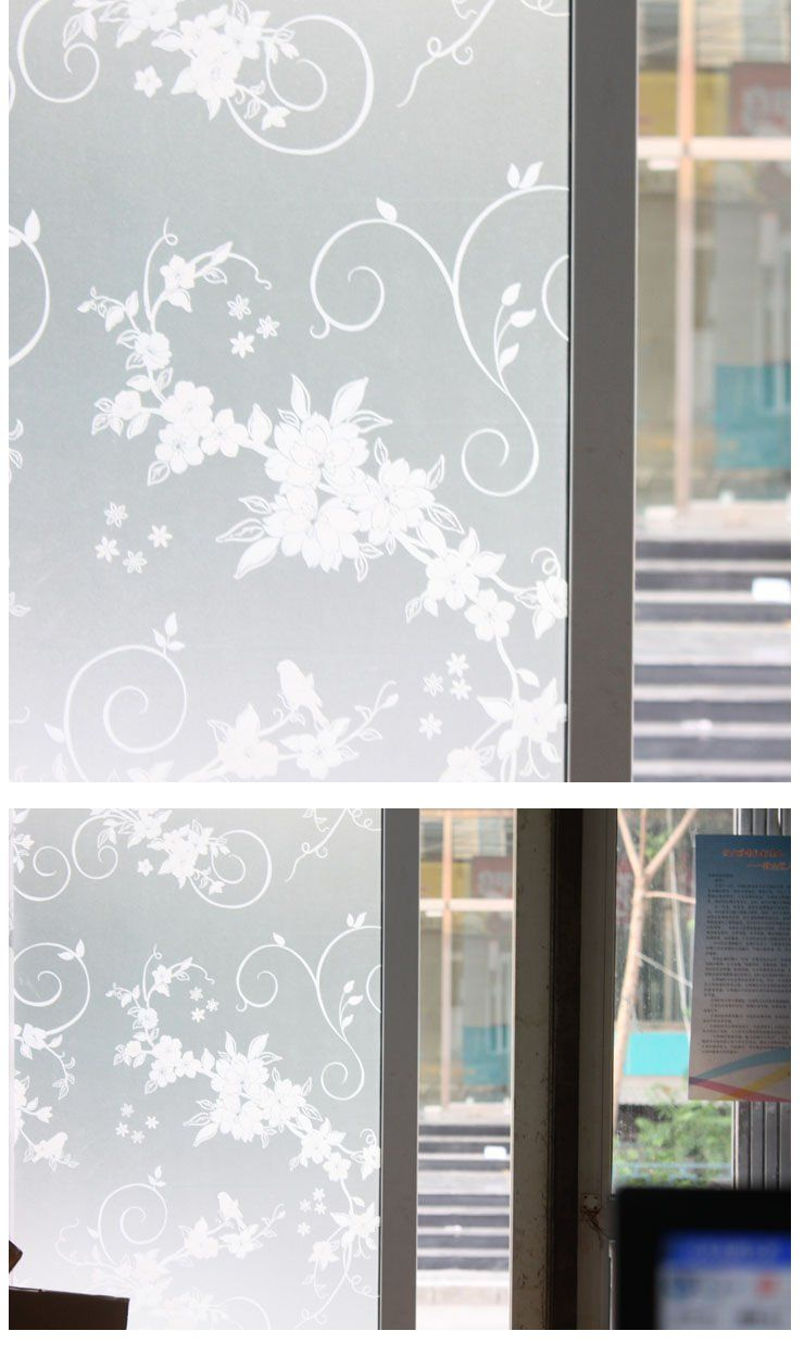 Wall sticker for glass / windows/ bathrooms, wallpaper Opaque frosted, 90cm W x 200cm L, WS-08