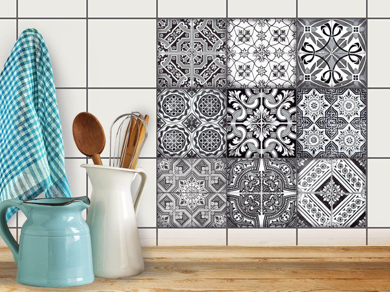 Art De Tuiles Mural Sticker Autocollant Carrelage Enjolivure - Stickers carrelage cuisine 15x15 pour idees de deco de cuisine
