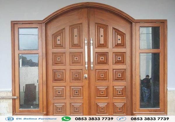 Pintu Rumah Doble Lengkung Kotak Kotak Desain Pintu Kupu Tarung Minimalis Terbaru Gambar Pintu Kupu Tarung Minimalis Terbaru Harga Pintu Kayu Jati Pintu Kayu