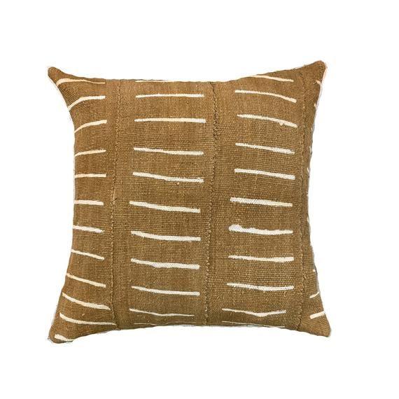 Brown Mud Cloth Pillows, Striped Mud Cloth Pillows, Various Sizes, Boho Pillows, Tribal Pillow Cover, Mud Cloth Lumbar, Mud Cloth Pillows