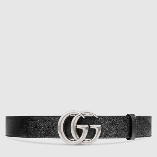 abaf290ceaa Leather belt with Double G buckle in 2019