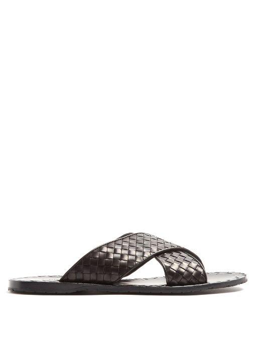 Bottega Veneta Leather Cross Sandals yhkoBjXLs