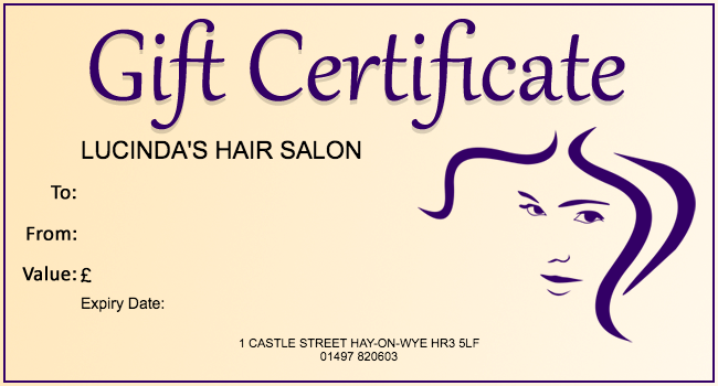 Free hair salon gift certificate template 01 gift template free hair salon gift certificate template 01 gift template yelopaper Choice Image