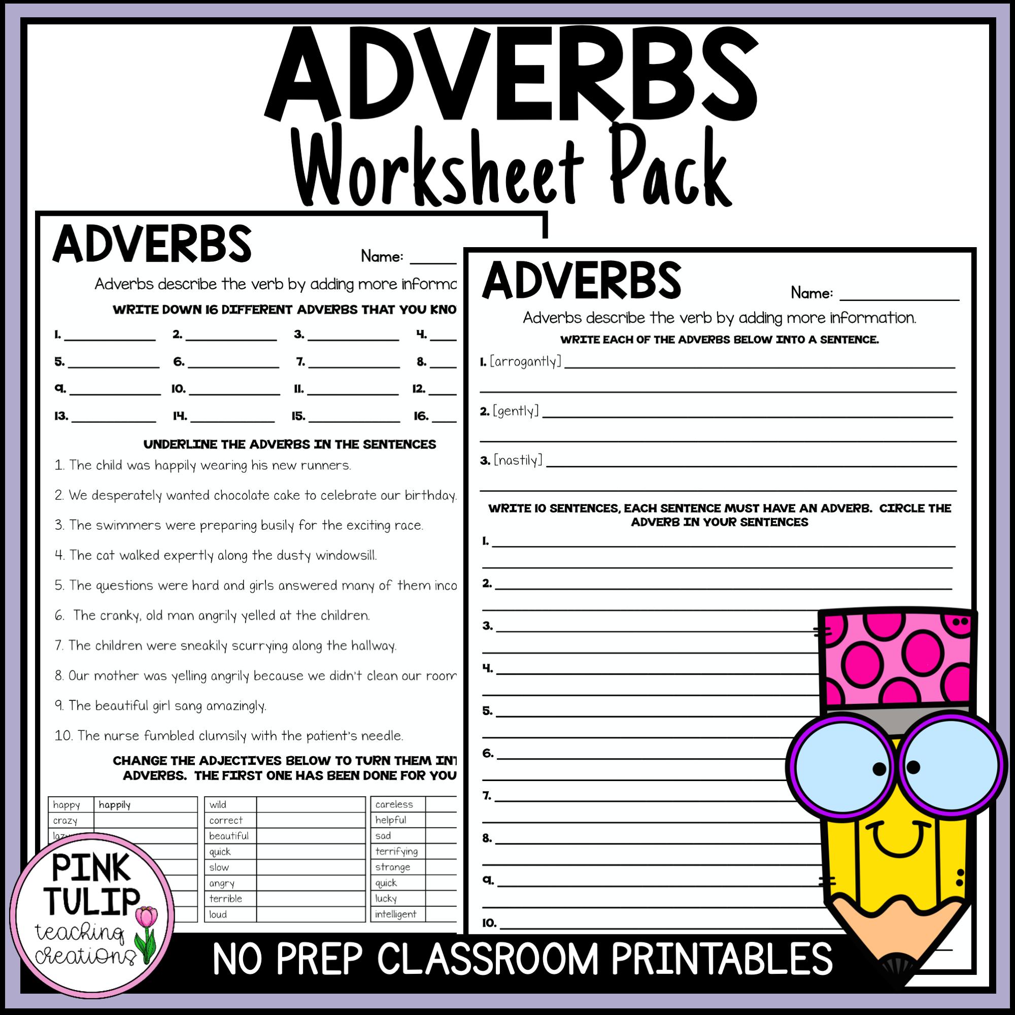 medium resolution of Understanding Adverbs Worksheets - No Prep Printables   Punctuation  worksheets