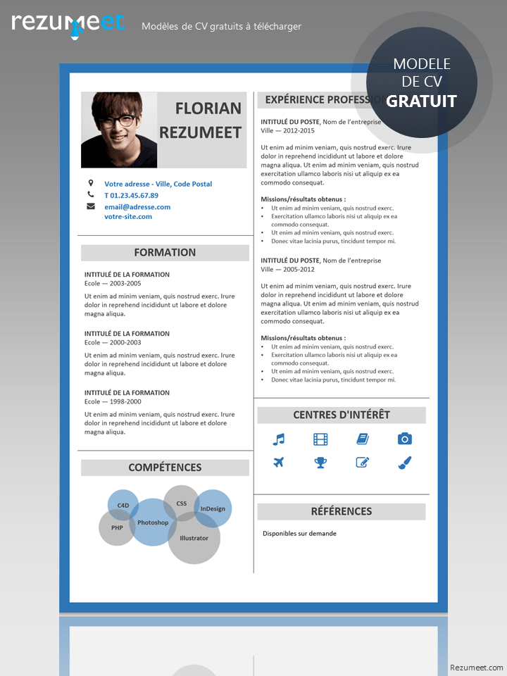 Here Is Free Curriculum Vitae Template With Minimalist Design For Your Next Job Opportunity With Its Help Your Cv Will Stand Out Among Others With A Minimal L