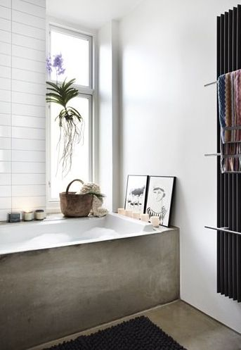 concrete bath panel banheiros pinterest baignoire b ton beton cir et baignoires. Black Bedroom Furniture Sets. Home Design Ideas