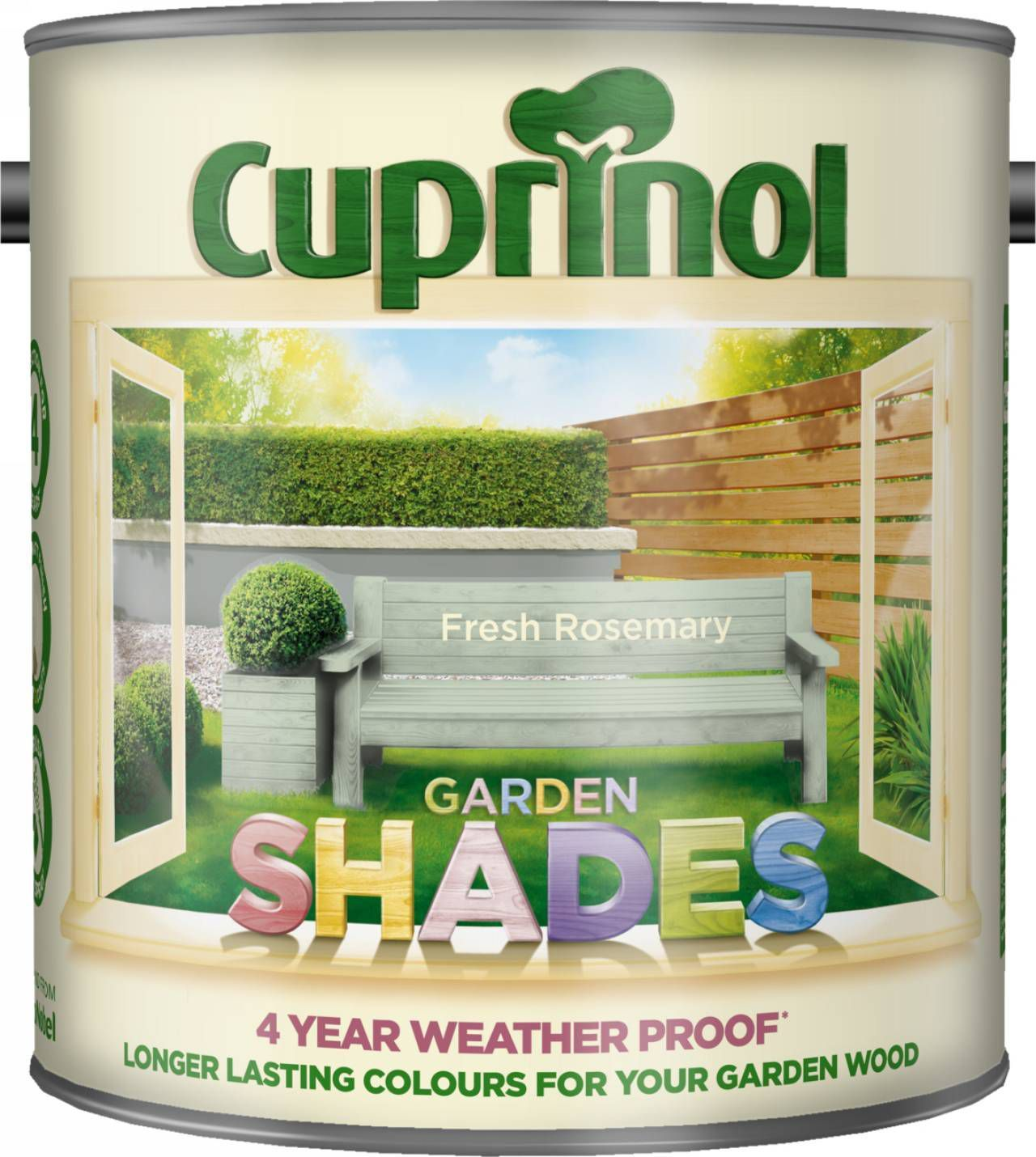 Cuprinol Garden Shades Fresh Rosemary Matt Wood Paint 2.5L
