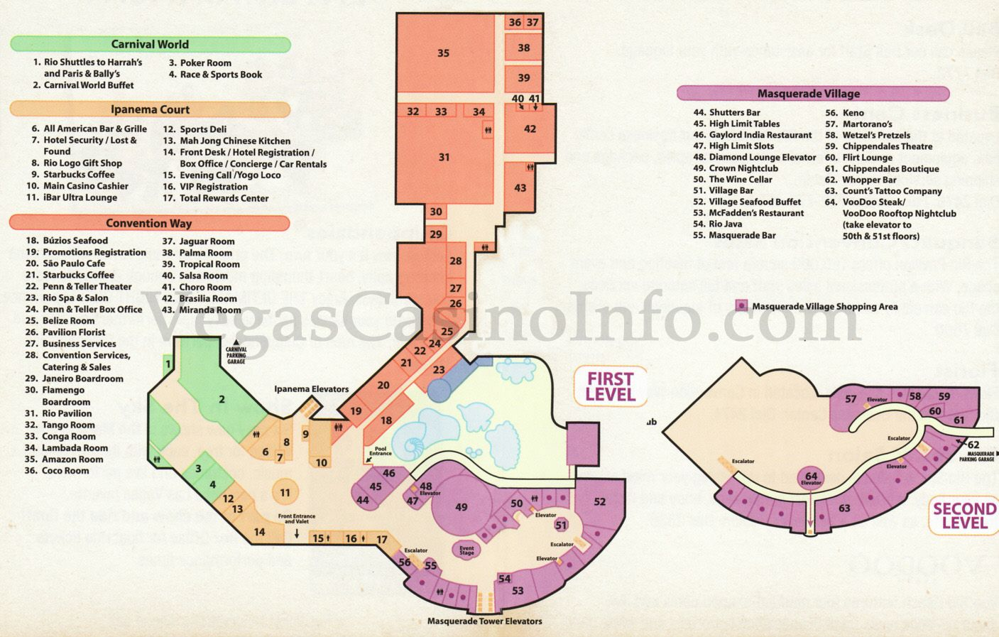 riomap.jpg (1407×897) Casino slot games, Red rock casino