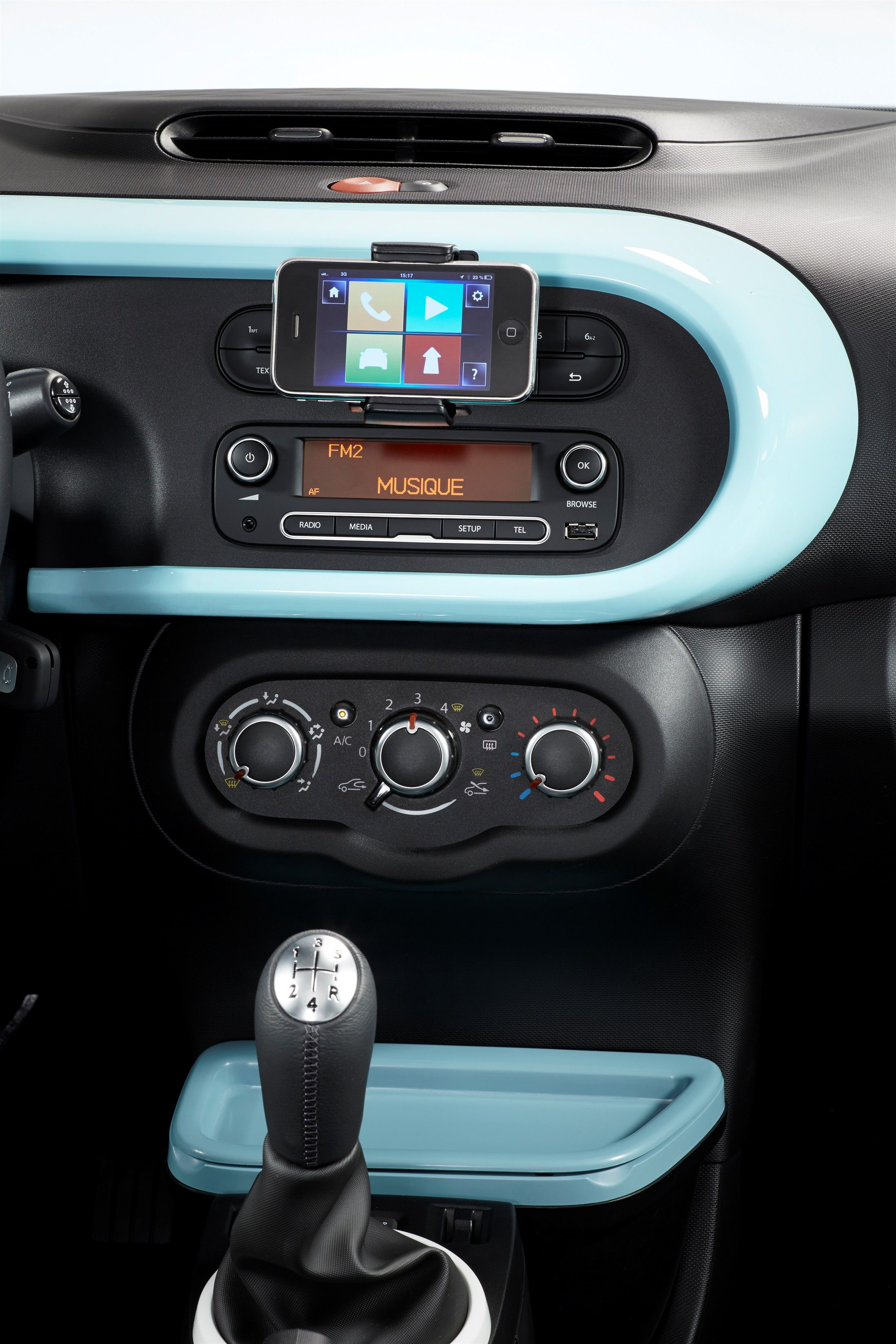Twingo powder blue interior | New car | Pinterest | Car interiors ...