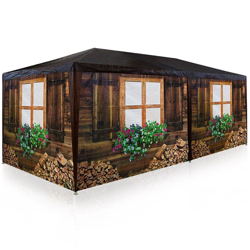 details zu partyzelt festzelt 3x6m oktoberfest bierzelt pavillon holzh tte gartenzelt zelt top. Black Bedroom Furniture Sets. Home Design Ideas