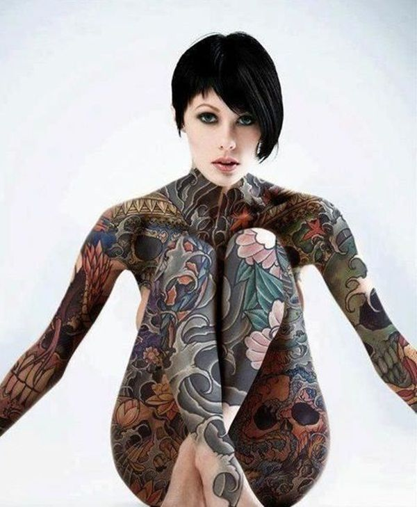 Tattoo Bodysuit Female