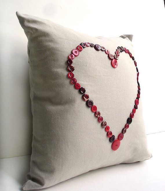 Pillow Cover Decorative 40 Inch Pillow Red Heart Button Pillow New Decorative Pillows With Buttons