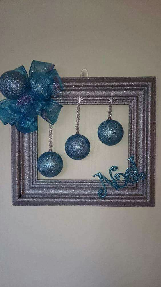 Photo of Last Minute DIY Christmas Decorations on a Budget – Picture Frame Wreaths