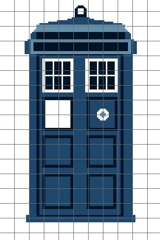 Tardis Crochet Graph/Chart Pattern - wonder if this would work for ...