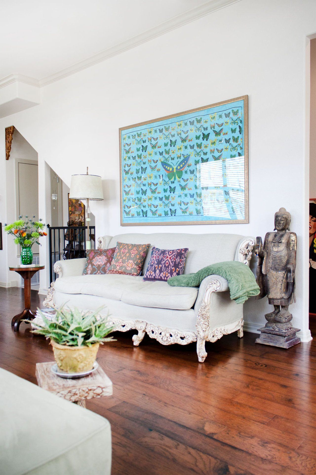 Townhouse Living Room Design: Amy Campbell's Travel-Inspired Townhouse