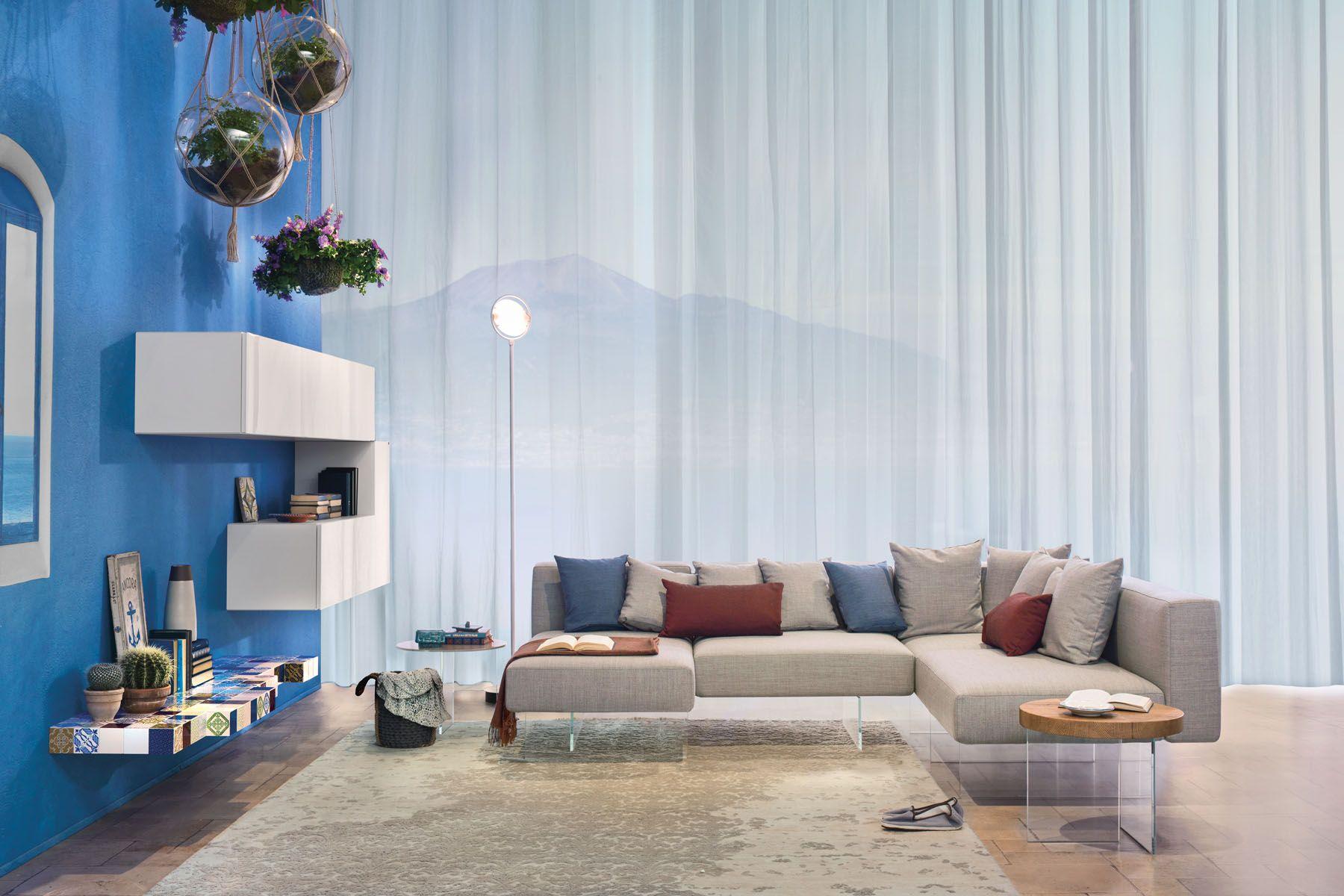 LAGO design living con divano mod. AIR e parete attrezzata 36e8 ...