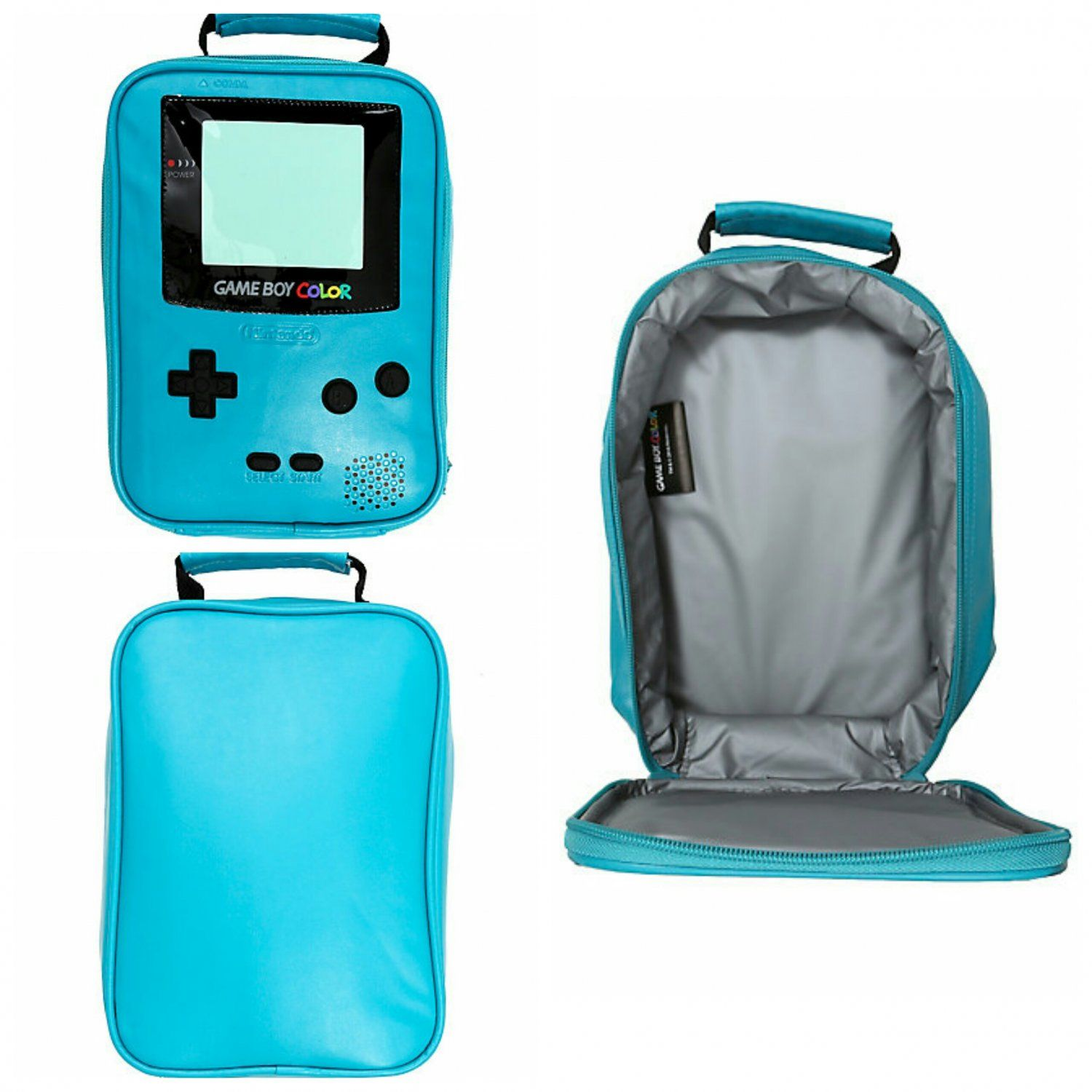 Game cooler bags - Nintendo Game Boy Color Lunch Box Cooler Bag