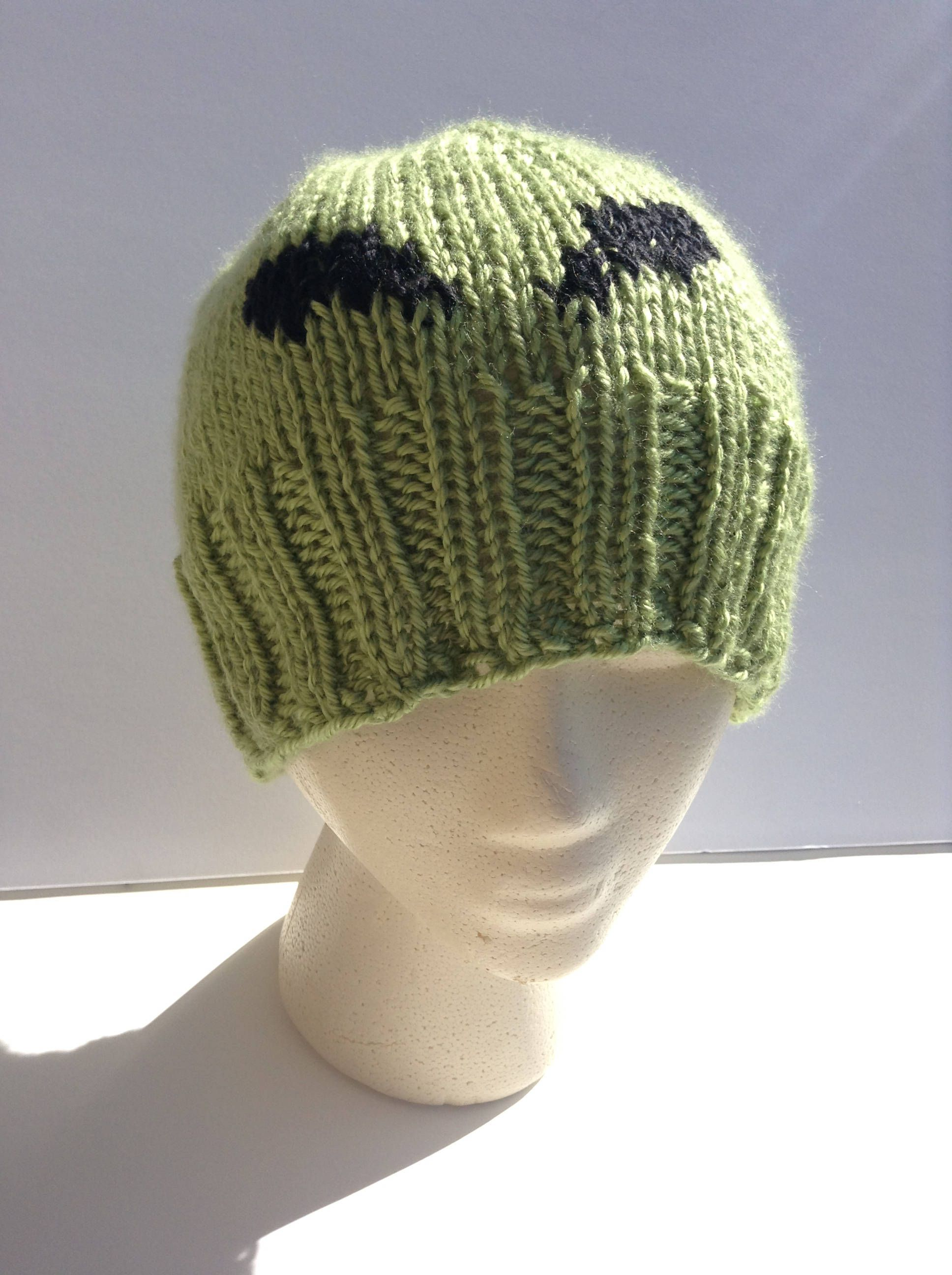 Alien beanie size teen adult little green man by