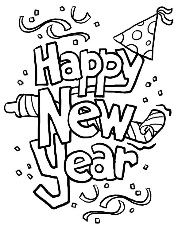 coloring pages for kids new year free  Coloring Holidays