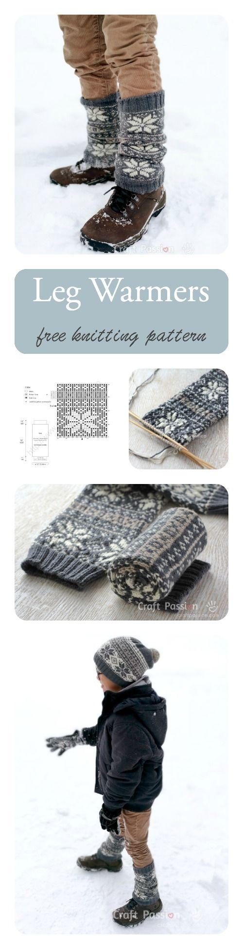 Fair Isle Leg Warmer - Free Knitting Pattern