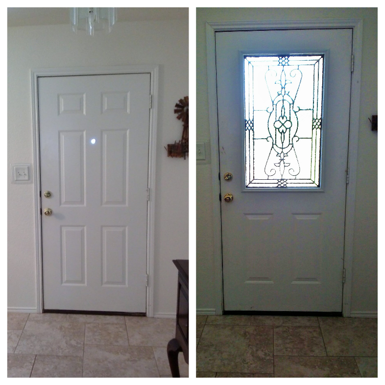 Front Door Makeover Zabitat Installed A Half Light Jacinto Door Glass Insert Into An Existing 6
