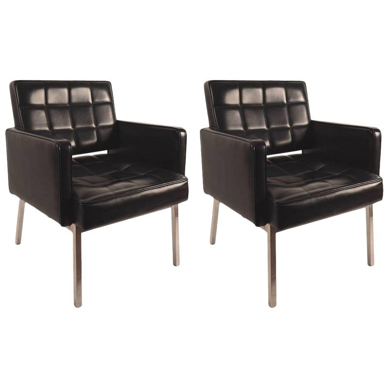 Pair Of Chic International Style Chairs International Style