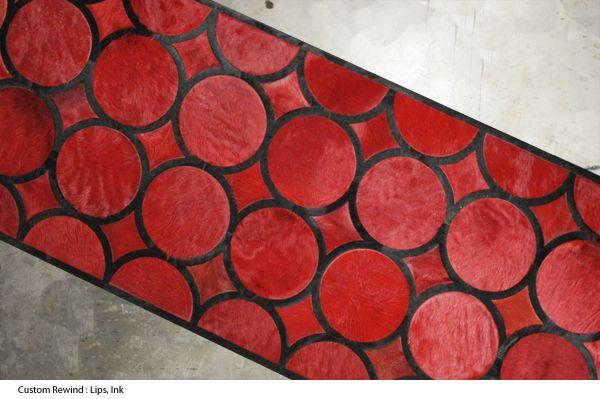 Kyle Bunting Hide Rug Loop In Ink Lips Red Red Rugs Hide