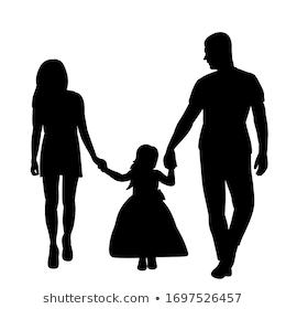 White Background Black Silhouette Family Temaju Stockvektorkep Jogdijmentes 1697526451 Silhouette Family Black Silhouette Woman Face Silhouette