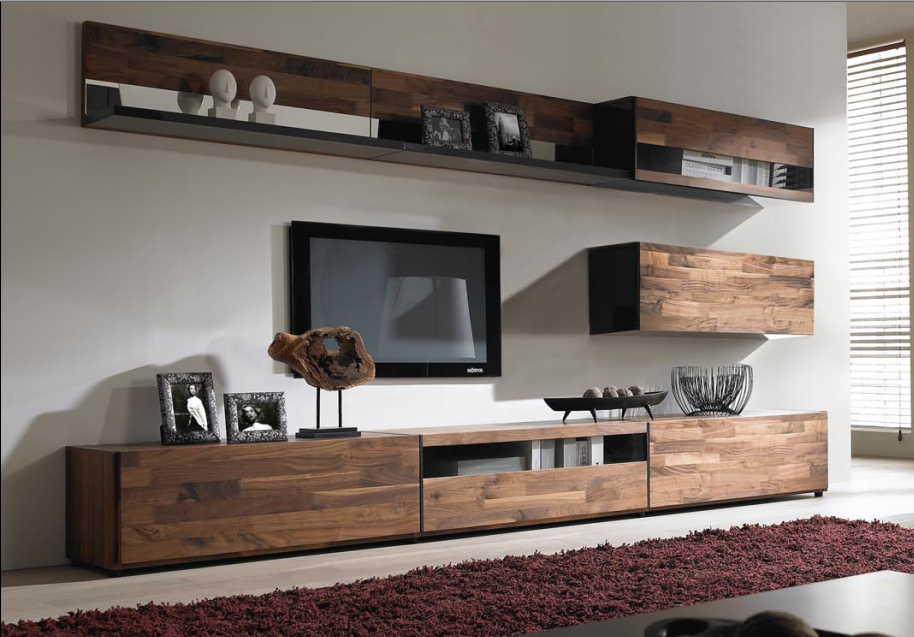 Hanging Shelf With Hanging Cabinets Wooden Tv Stand Assembling