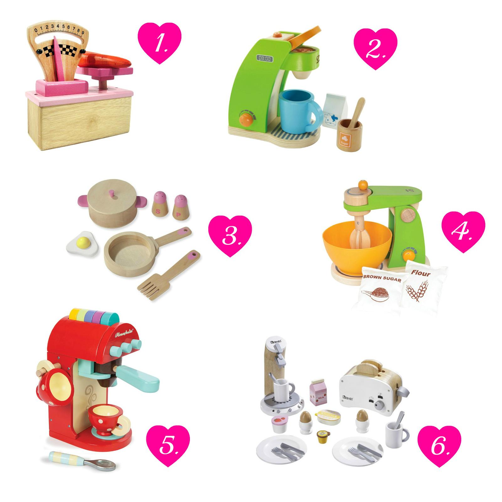 Küchenzubehör für Spielküche.