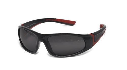 49b8adfb83 Bolt Polarized shades for Kids in Black and Red