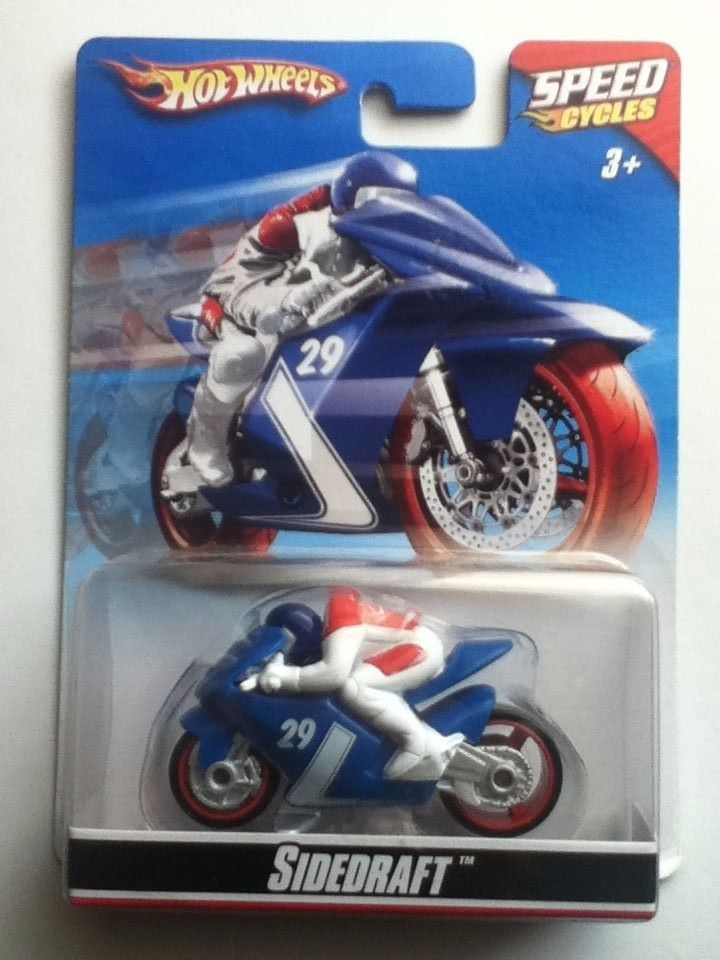 HOT WHEELS SPEED CYCLES -SIDEDRAFT  MINT ON CARD COPYRIGHT 2009 #MATTEL