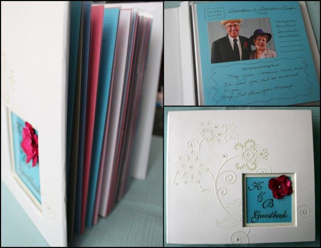 DIY Wedding Photo Guestbook with places for guests to write a little note!