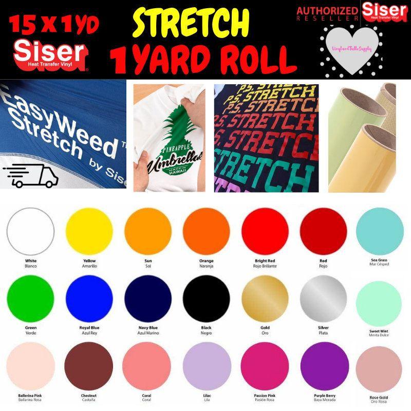 Siser Easyweed Stretch 1 Yard 15 X 36 1 Yard Roll Siser Easyweed Htv Heat Transfer Vinyl Stretch Htv Vinyl Siser Easyweed Heat Transfer Vinyl