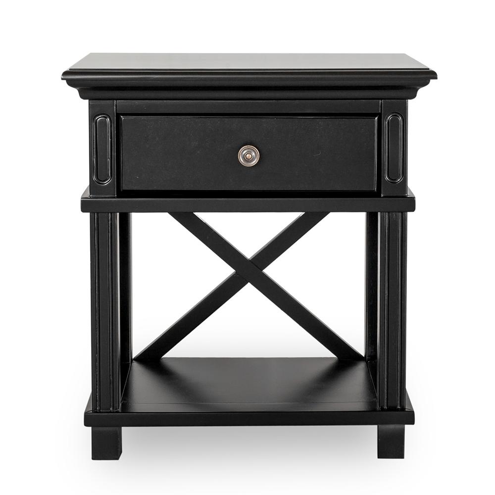 Best Sorrento Bedside Table Black Black Bedside Table 640 x 480