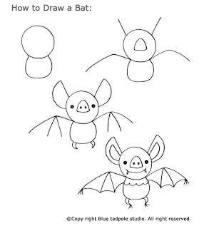 Feeling Batty Easy Drawings Halloween Drawings Draw A Bat