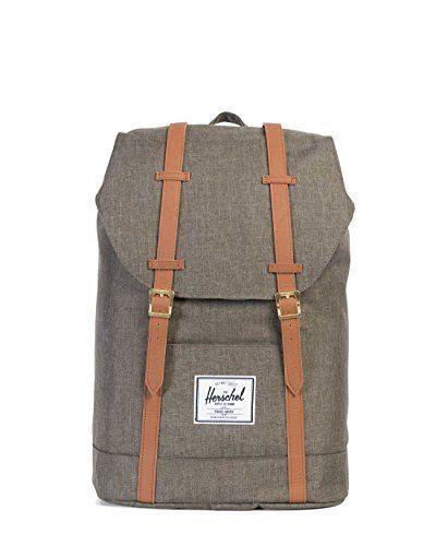 d3a267b7b7e Herschel Supply Co. Retreat Backpack Canteen Crosshatch Tan Synthetic  Leather  HerschelSupplyCo