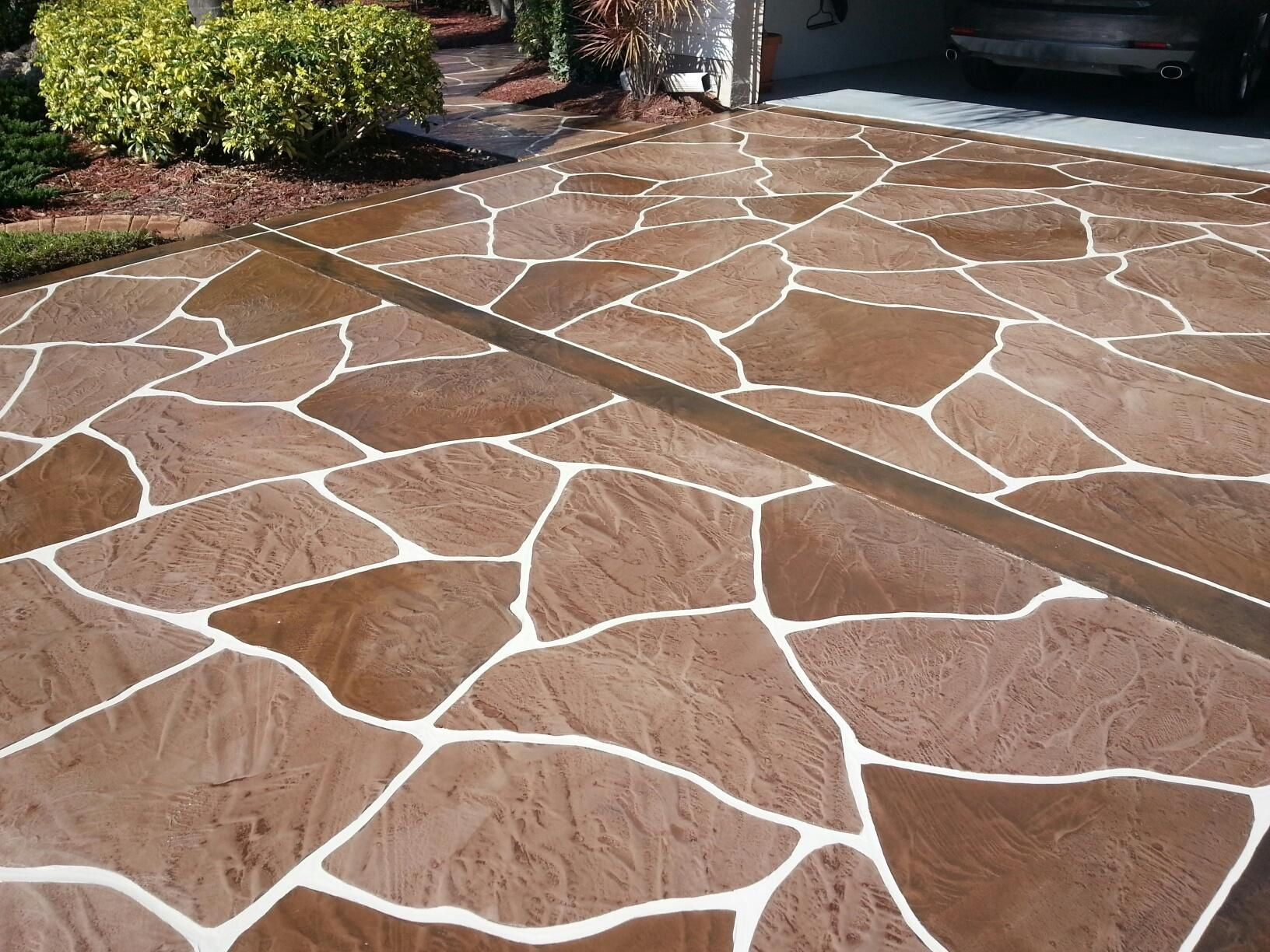 Decorative Concrete Driveway In North Fort Myers A Myriad Of