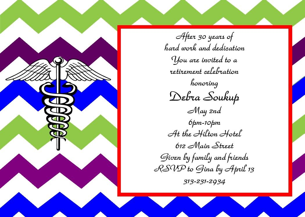 Retirement Party Invitations Aqua And Red  Retirement