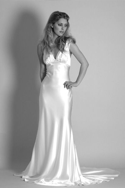 The Hollywood Collection Vivienne 1930s Vintage Satin Wedding Dress ...