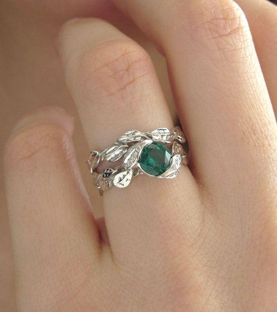 Leaf Engagement Ring Settings Wedding Set Sets