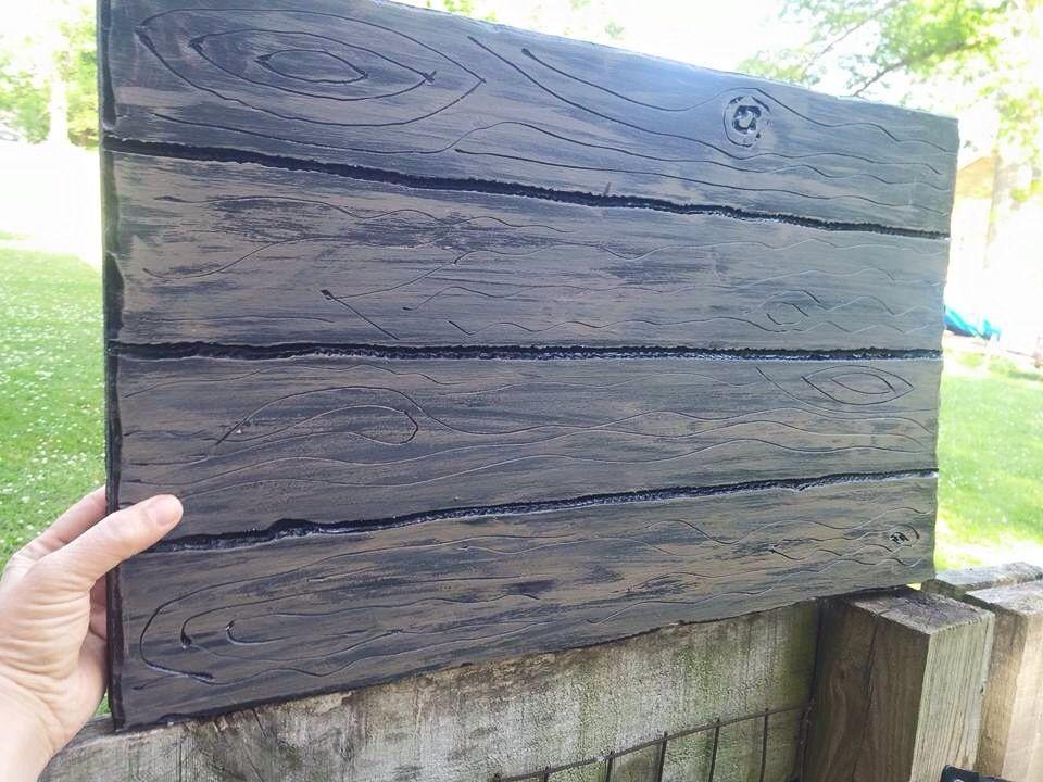 Absolutely genius make foam board look like wood using a