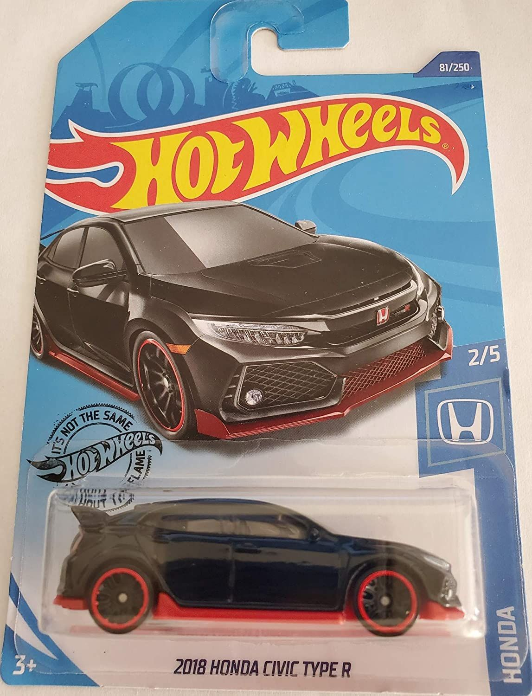 Hot Wheels 2020 Honda 2//5-2018 Honda Civic Type R Black 81//250