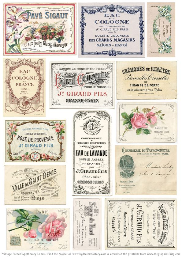 DIY Vintage Apothecary Jar Labels!   Apothecaries, Vintage and ...