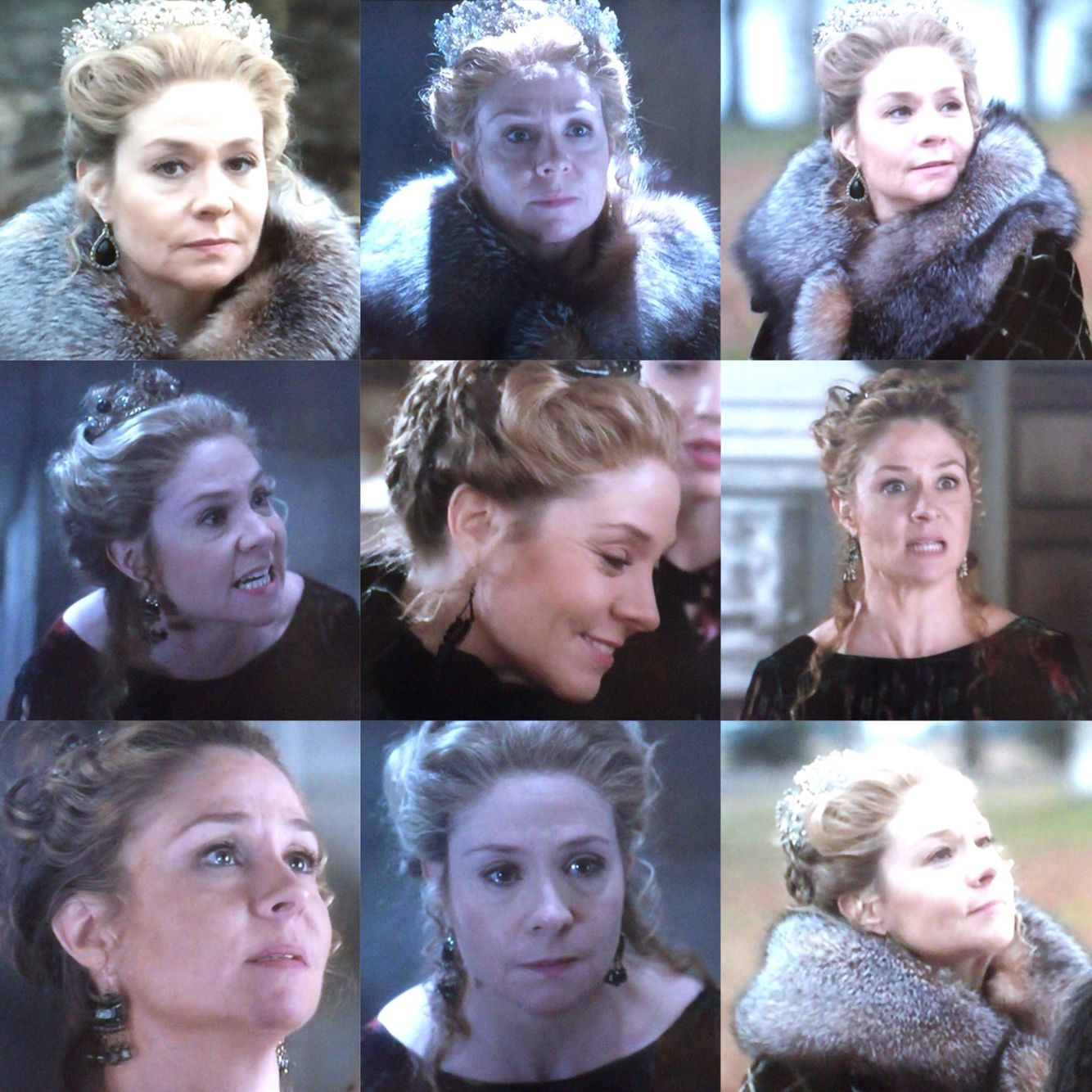 Look at these stunning mimics. Megan Follows is brilliant as Queen Catherine. Actually she is brilliant in every role she plays!