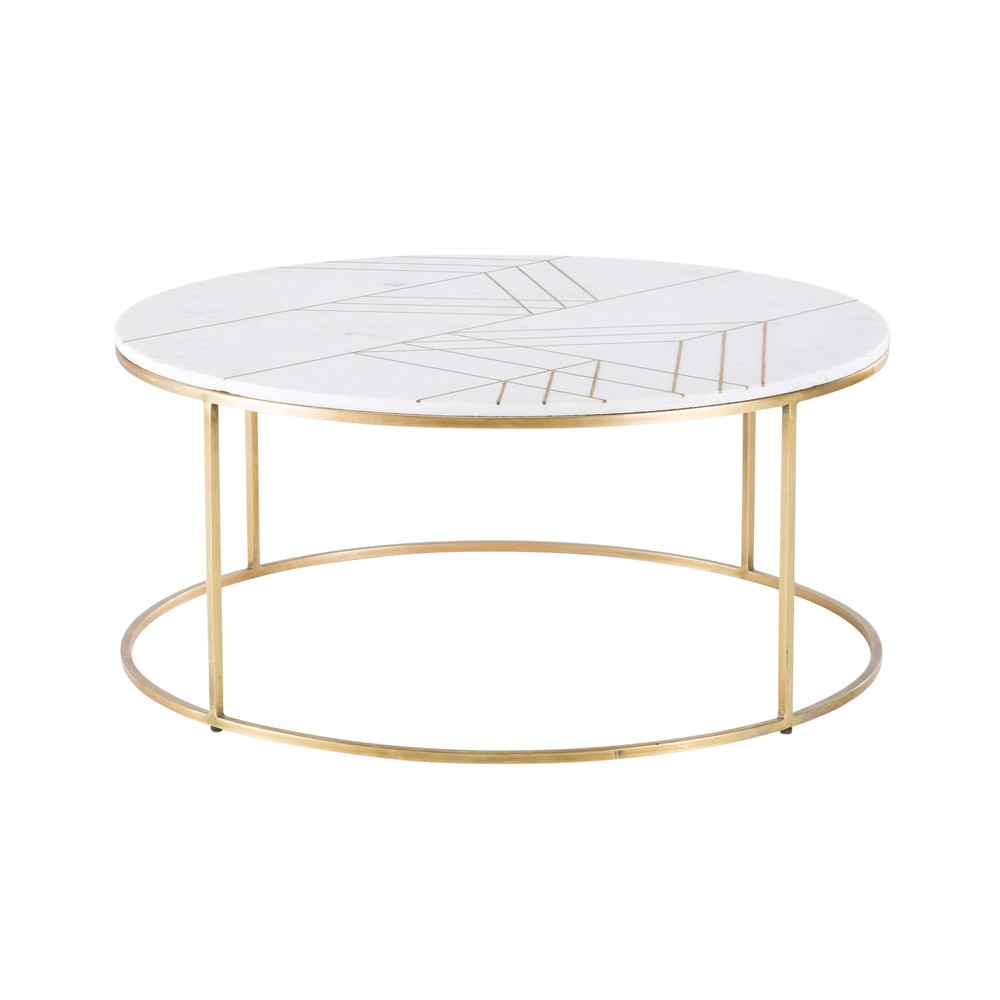 gold iron and white marble round coffee table in 2019 home round coffee table table furniture