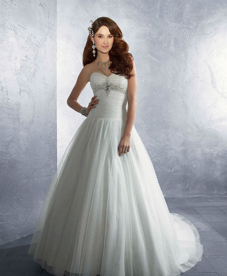 Alfred angelo wedding dress preowned ivory tulle straps designer