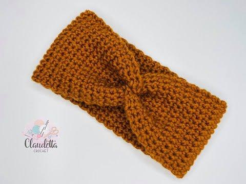 Photo of Crochet X-Twist Headband / Earwarmer / BEGINNER