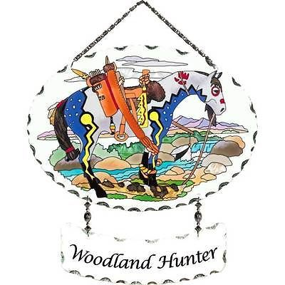 TRAIL OF PAINTED PONIES - Suncatcher & Name Plaque - Woodland Hunter Horse